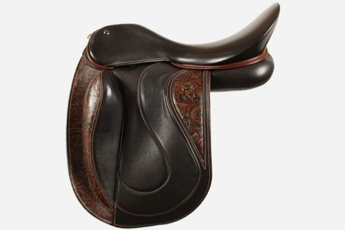 18 Inch Dressage Saddle With Dressage Seriously Straight Fixed Block Flaps